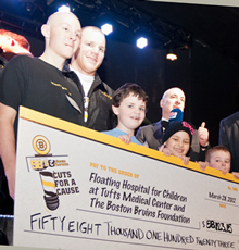 The Cuts for a Cause event with the Boston Bruins raises money for Tufts Children's Hospital in Boston.