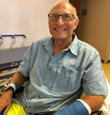 Bill Lytton was attacked by a shark but saved at Tufts MC.