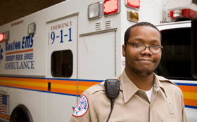 EMS staff are proud to work with Tufts Medical Center.