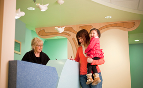 Pediatric Hematology/Oncology Clinic at Floating Hospital for Children in Boston, MA.