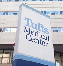 The outside of the Tufts Medical Center main building.