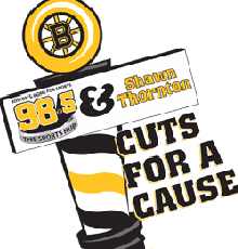 The Cuts for a Cause event with the Boston Bruins raises money for Floating Hospital for Children in Boston.