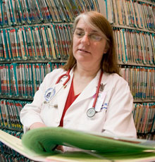 Lynne Karlson, MD in medical records in General Pediatrics at Floating Hospital for Children in Boston.