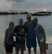 Susan Demarco on the beach