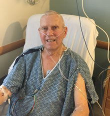 Jim Duffy  was awaiting the New Year when he couldn't breathe and was sent to Tufts MC for cardiac care..