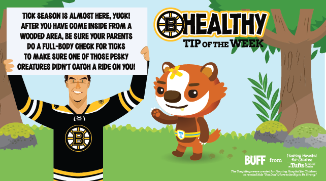 Floating Hospital for Children in Boston has teamed up with the Boston Bruins to help keep our smallest fans strong through a mobile app.