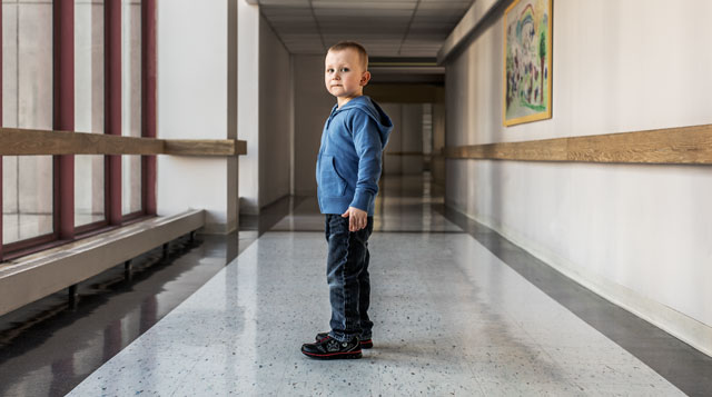 Dalton, who gets his care at Floating Hospital for Children in Boston, MA, proves every day that You Don't Have to Be Big to Be Strong.